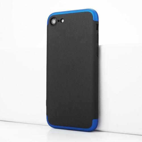 Трехкомпонентный сборный двухцветный пластиковый чехол для Iphone 7/SE (2020)/8 Синий - купить в Калуге на kaluga.100gadgets.ru
